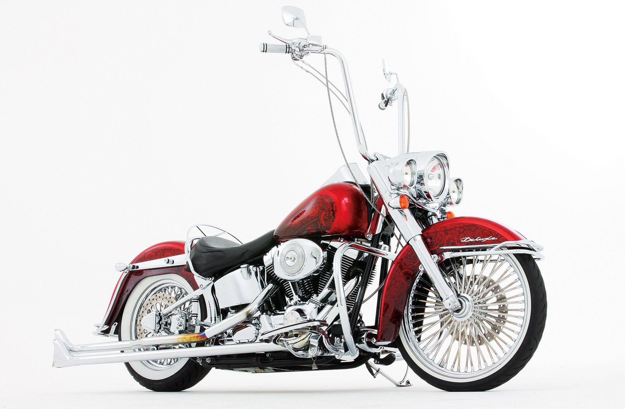 Populaire 2005 Harley Davidson Softail Deluxe - Dia de Los Muertos - Lowrider UQ23