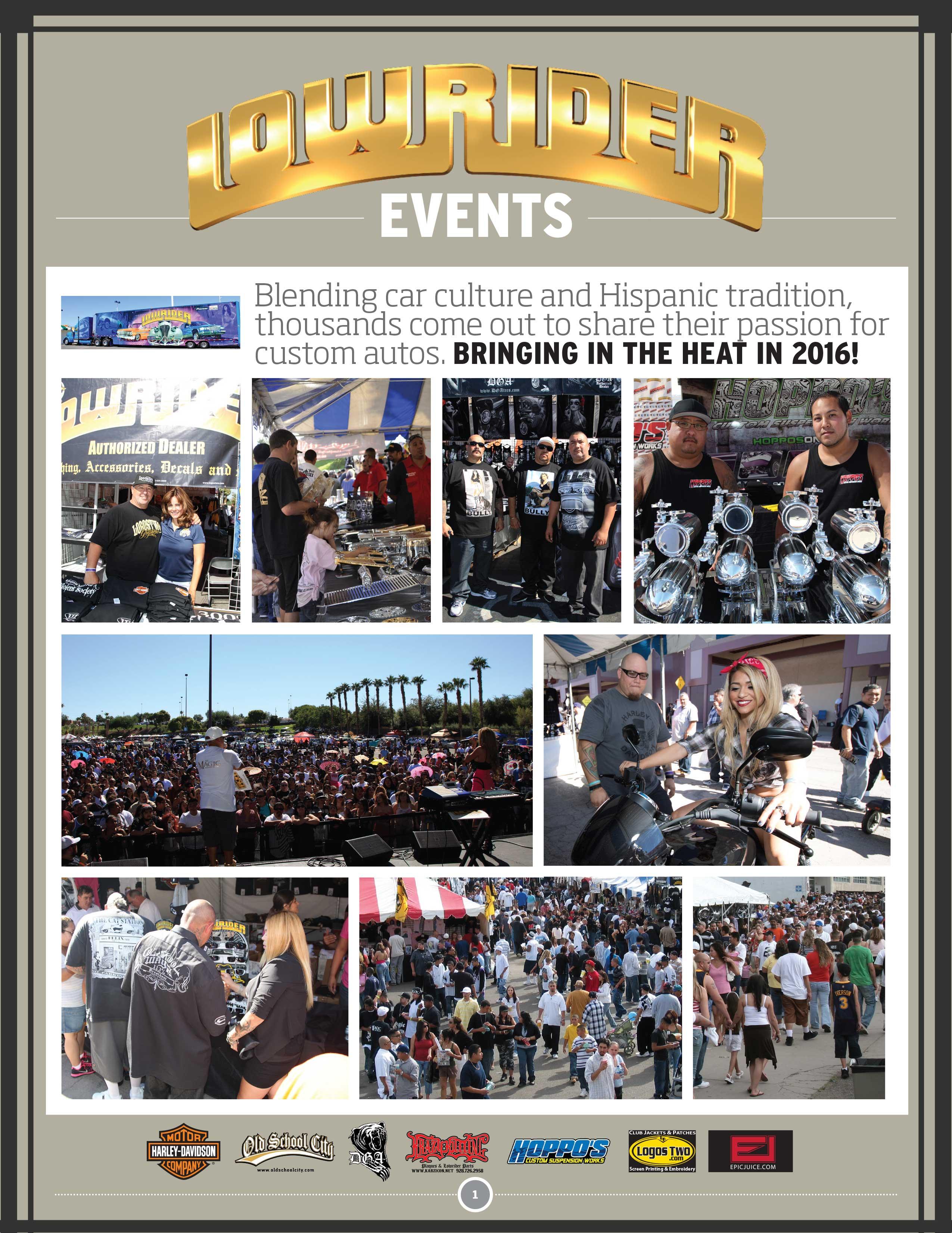 2016 lowrider tour sponsorship brochure