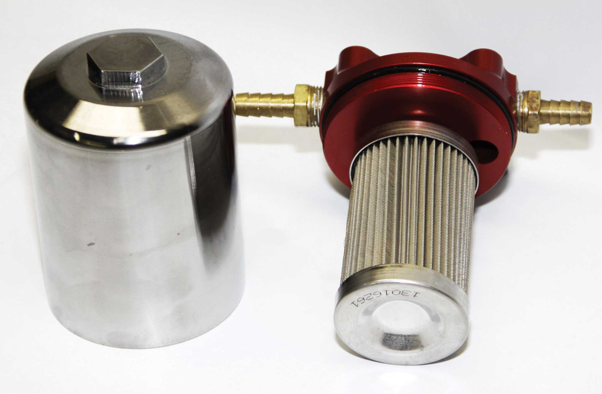 in line fuel filter canister