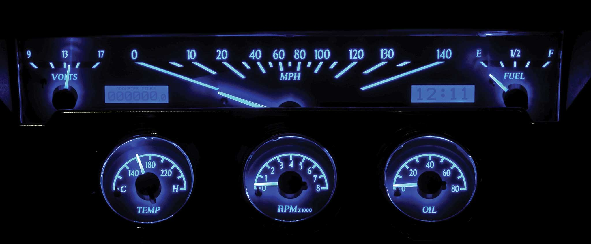 Digital Gauge Cluster : Dakota digital gauges gauge your competition