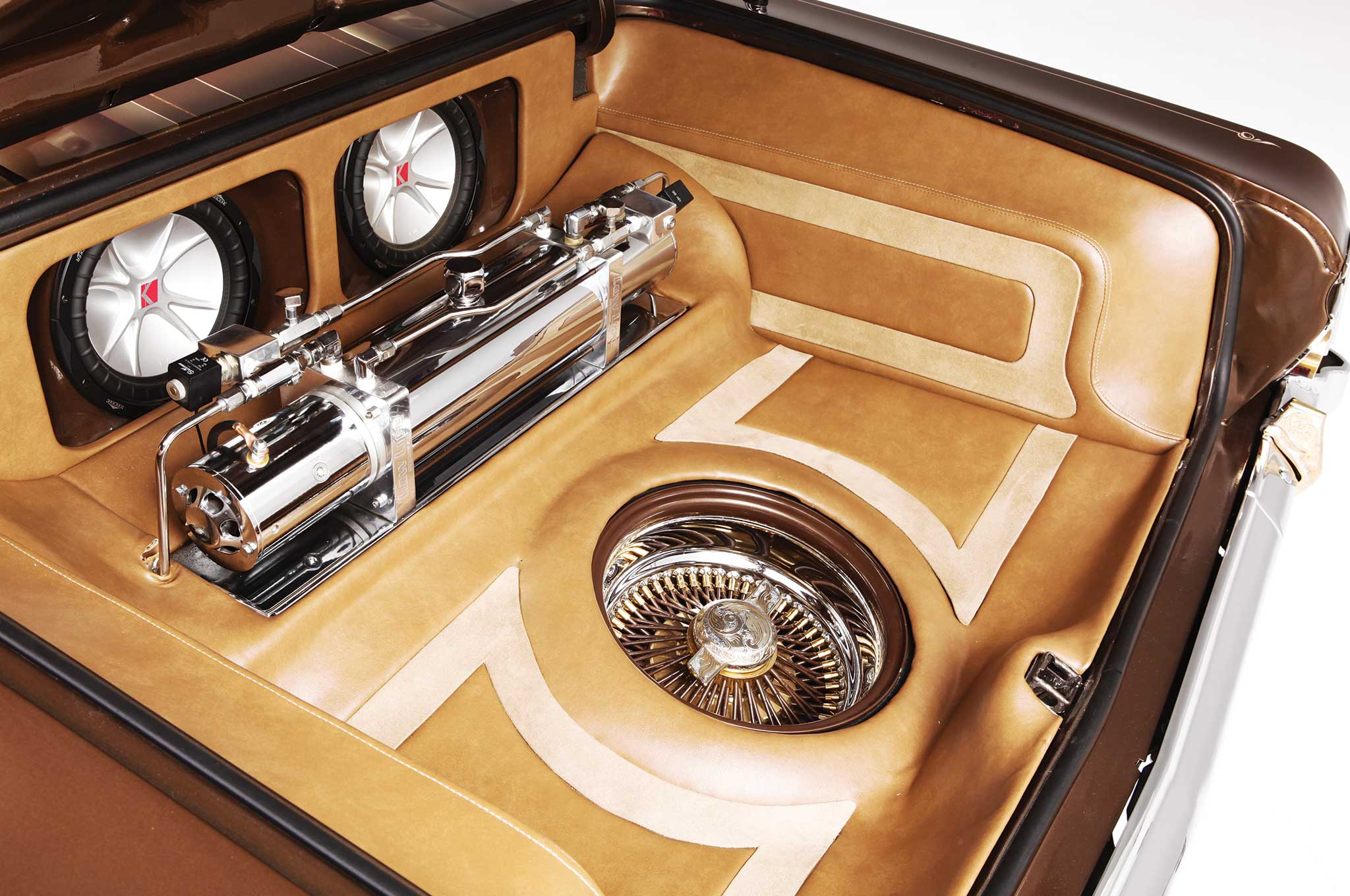 1964 chevrolet impala custom trunk setup