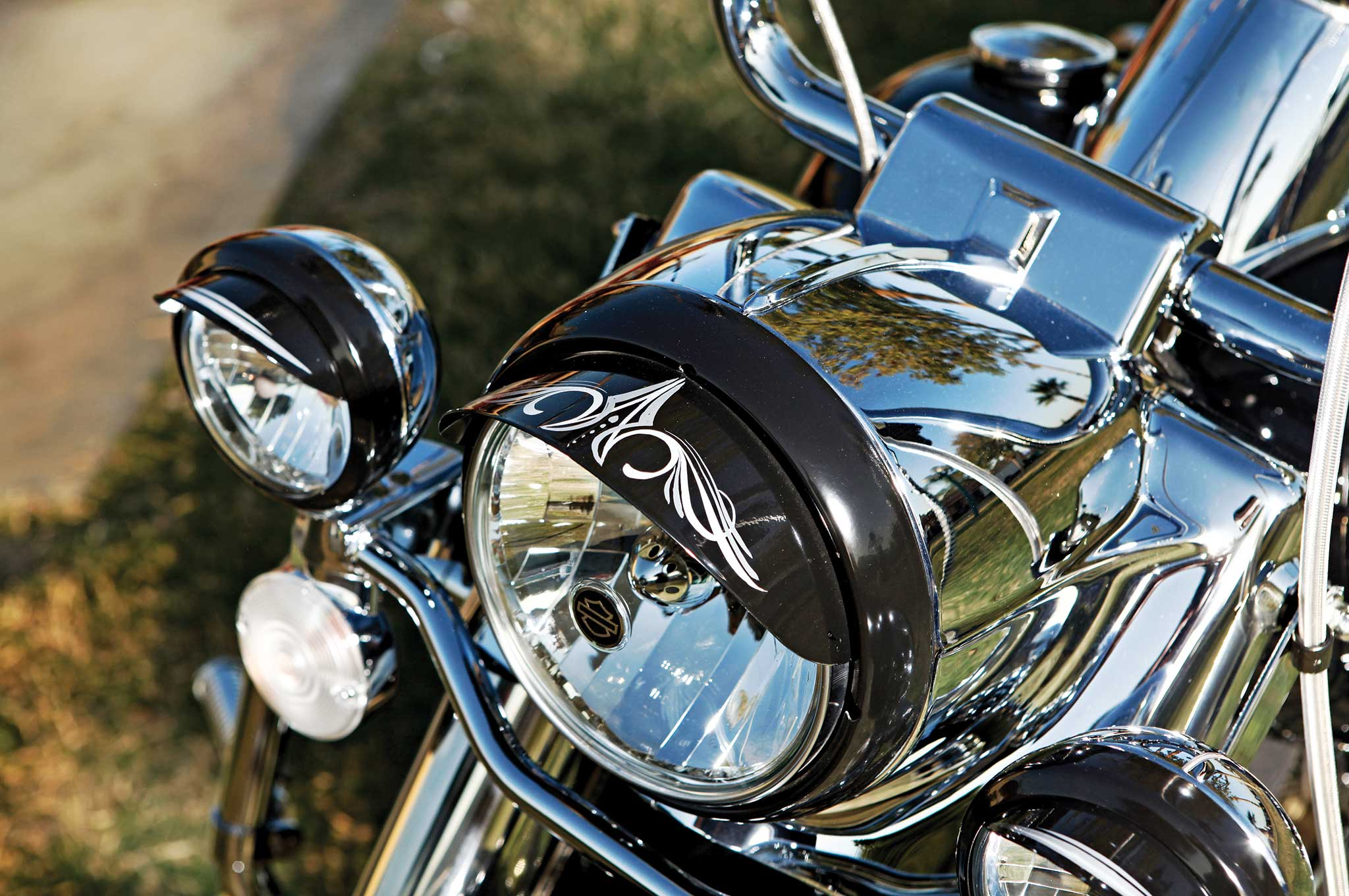 002 2012 harley davidson road king headlight
