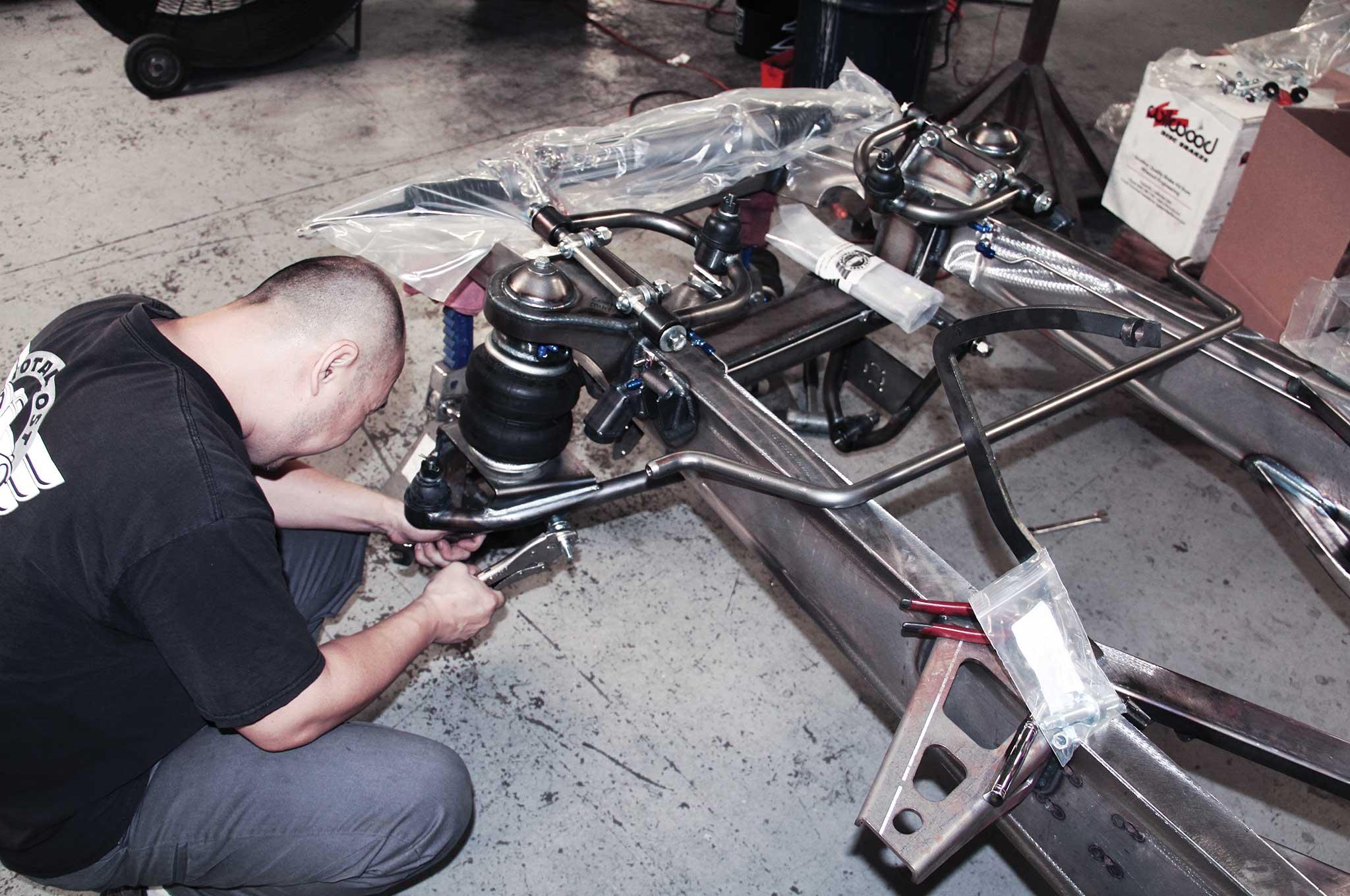 005 assembling a tci truck frame airbag install