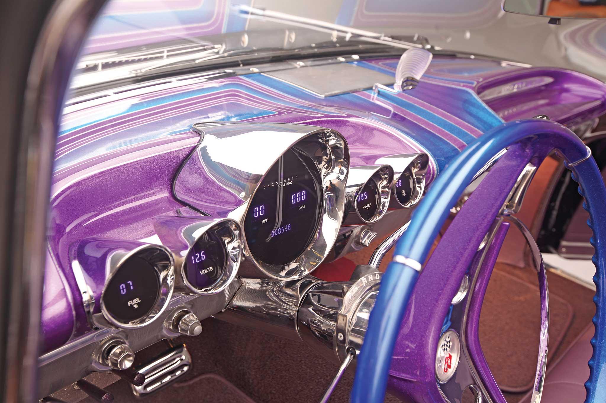 006 1959 chevrolet impala convertible digital gauge cluster