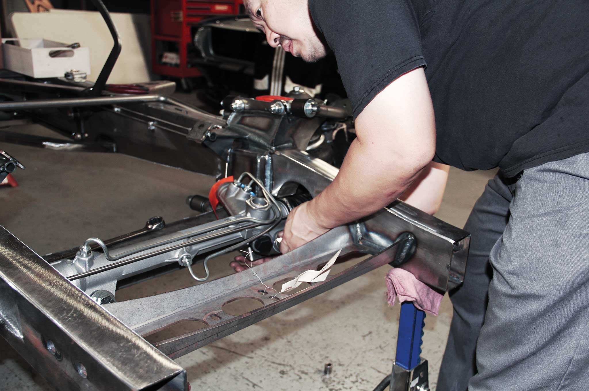 006 assembling a tci truck frame rack and pinion components install