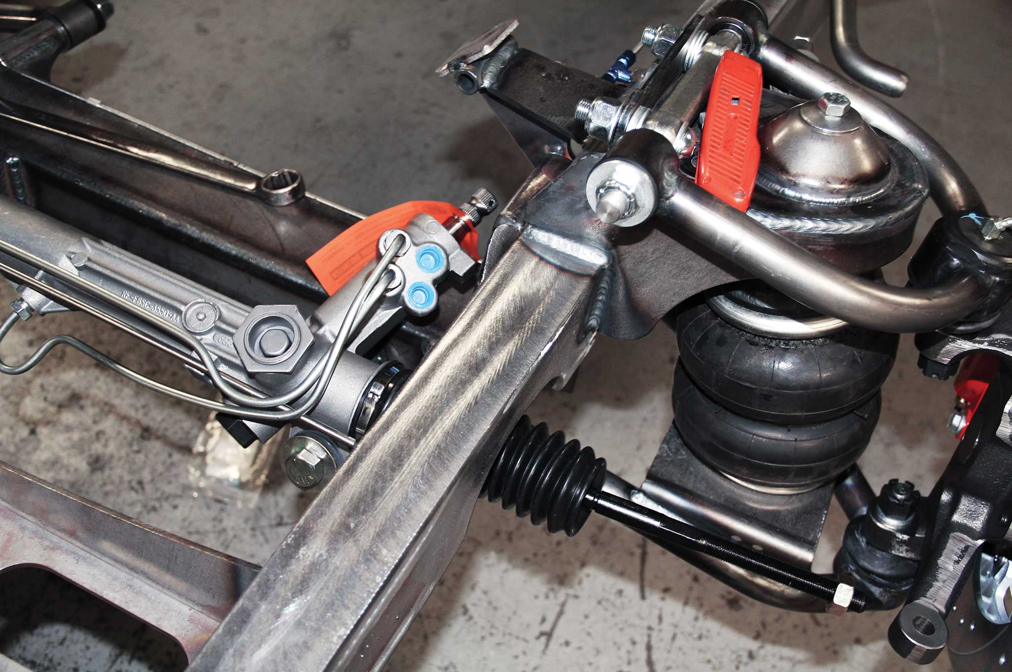 007 assembling a tci truck frame rack and pinion components install