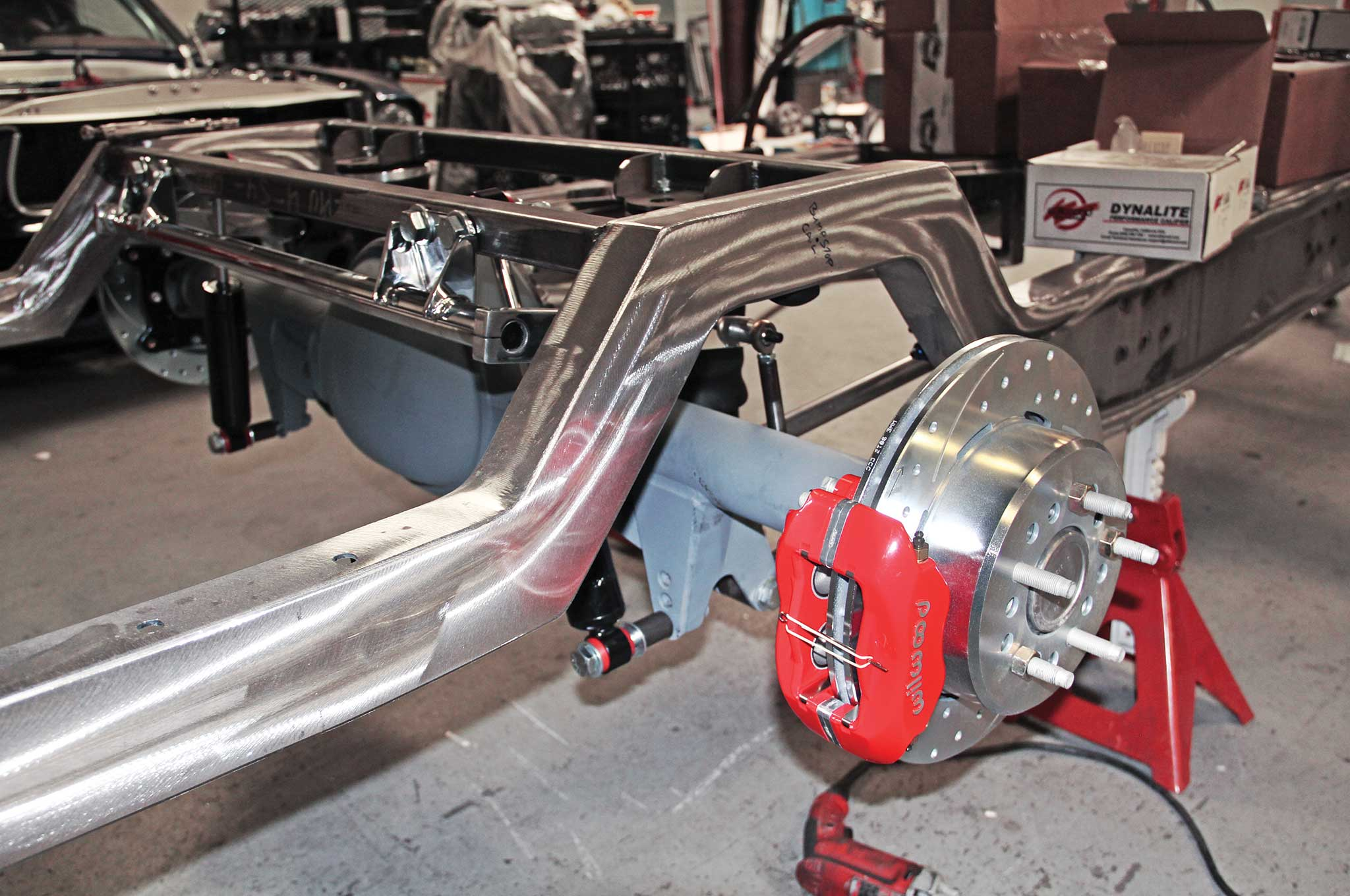 015 assembling a tci truck frame corvette style drum and disc brake assembly install