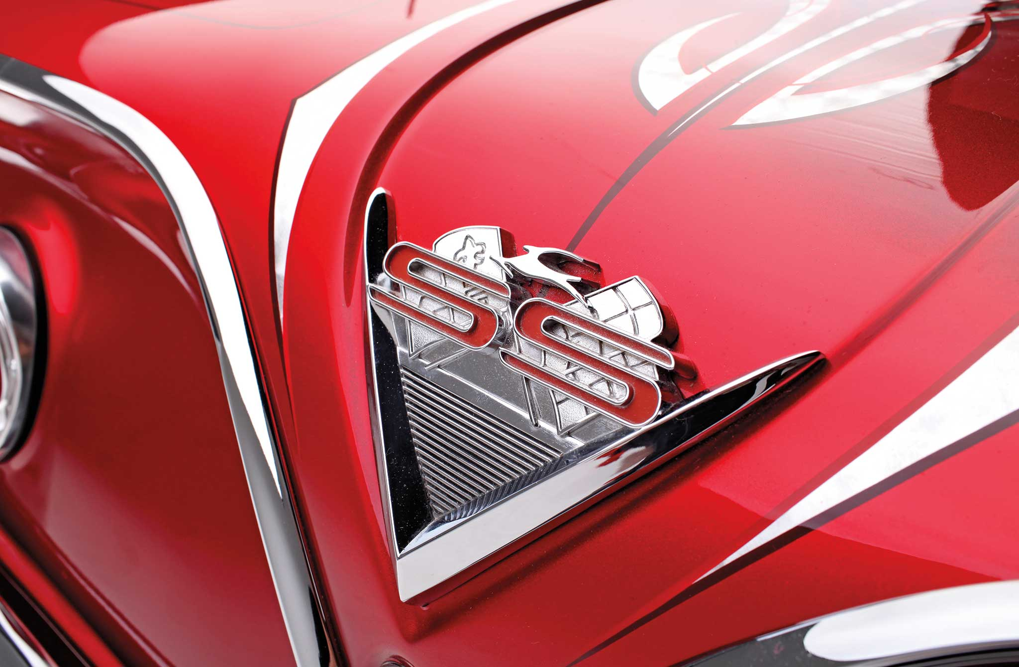 006 1961 chevrolet impala convertible ss trunk badge