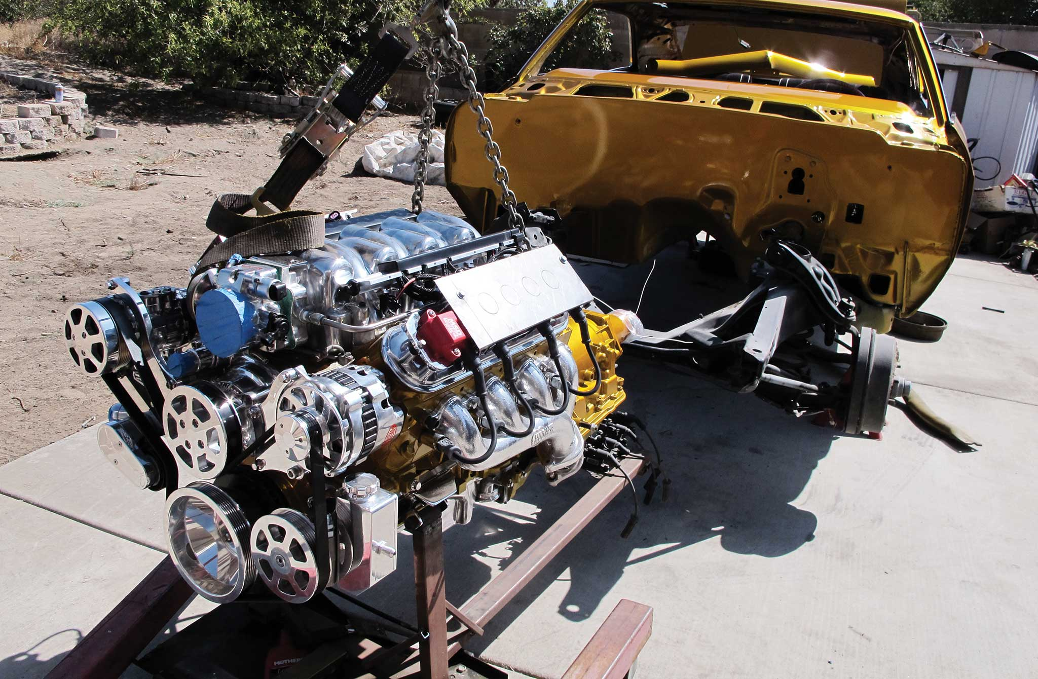 014 building an ls1 into a show engine engine mockup