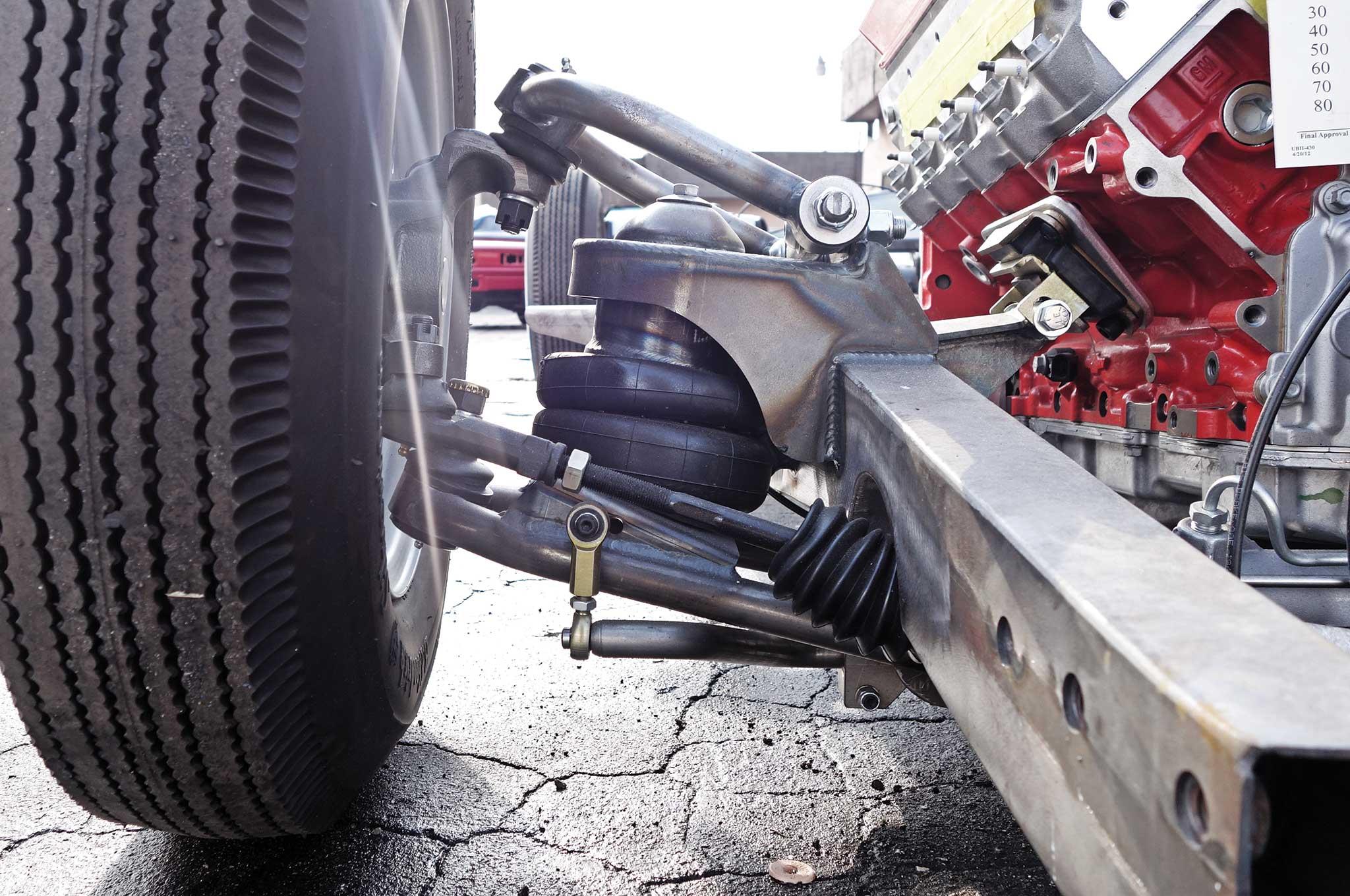 54 bomb truck drivetrain install cpp motor mounts 006