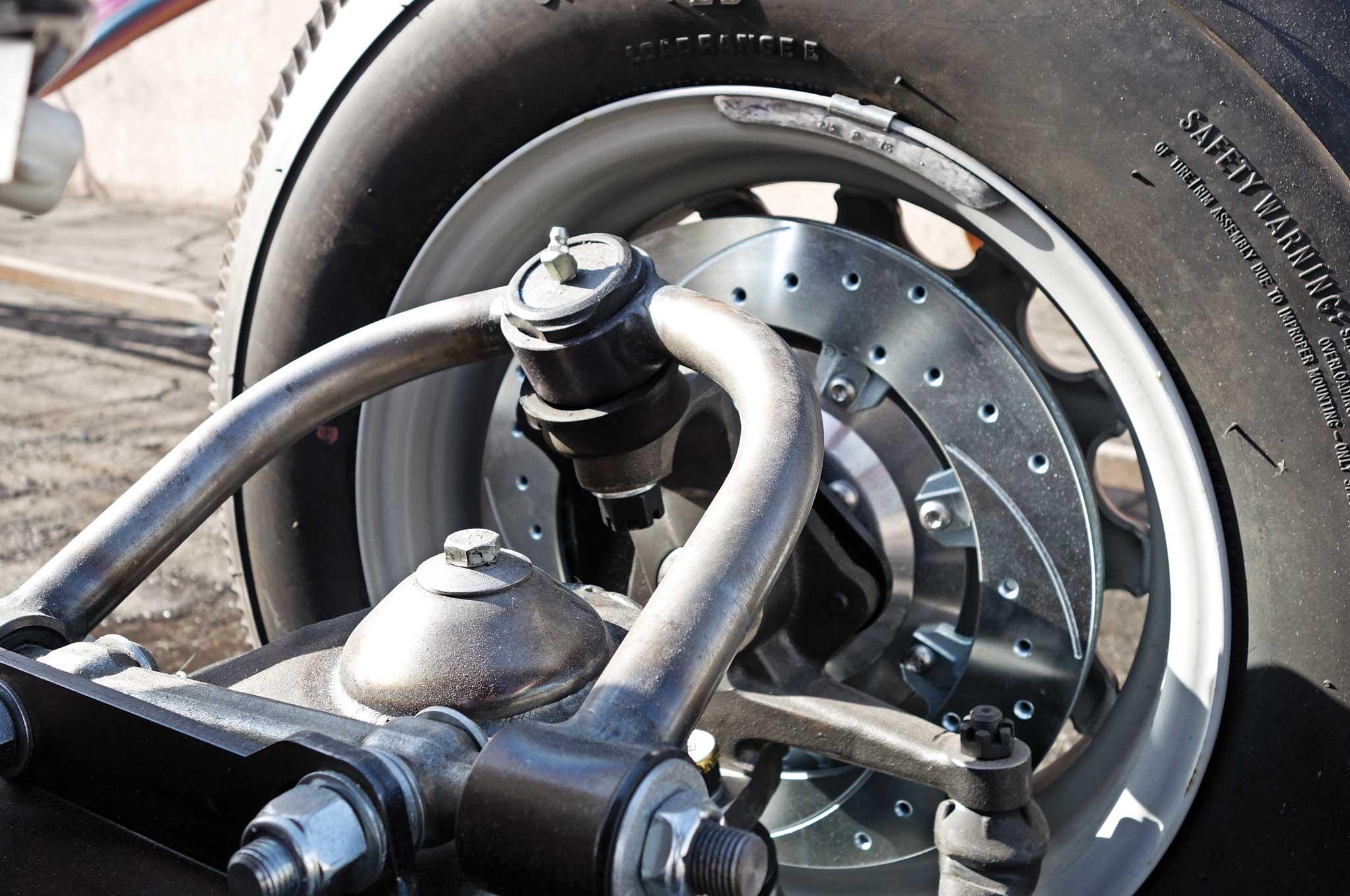 54 bomb truck drivetrain install wilwood disc brake system 002