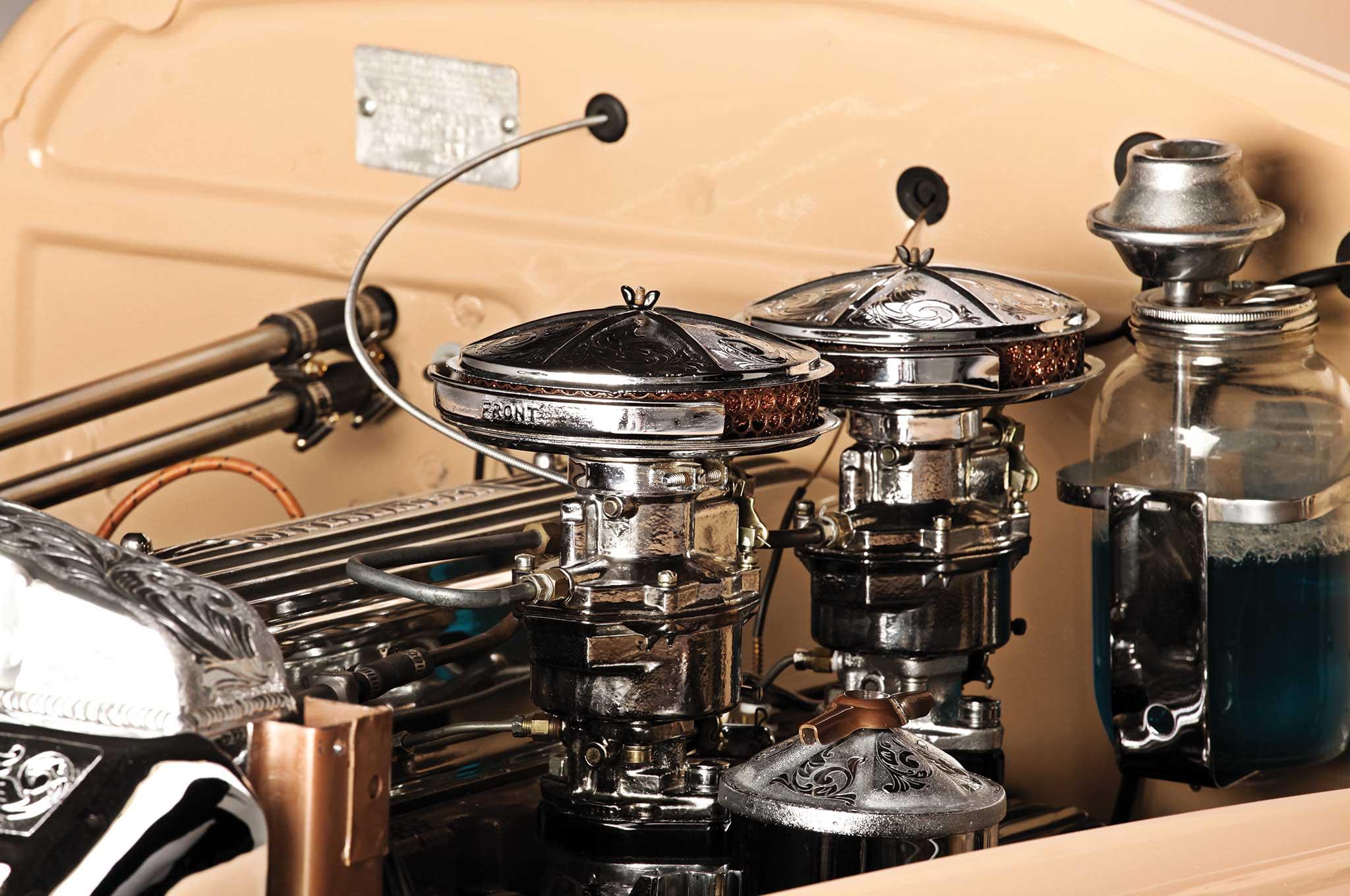 1947 chevy fleetline dual rochester single barrel carburetors 011