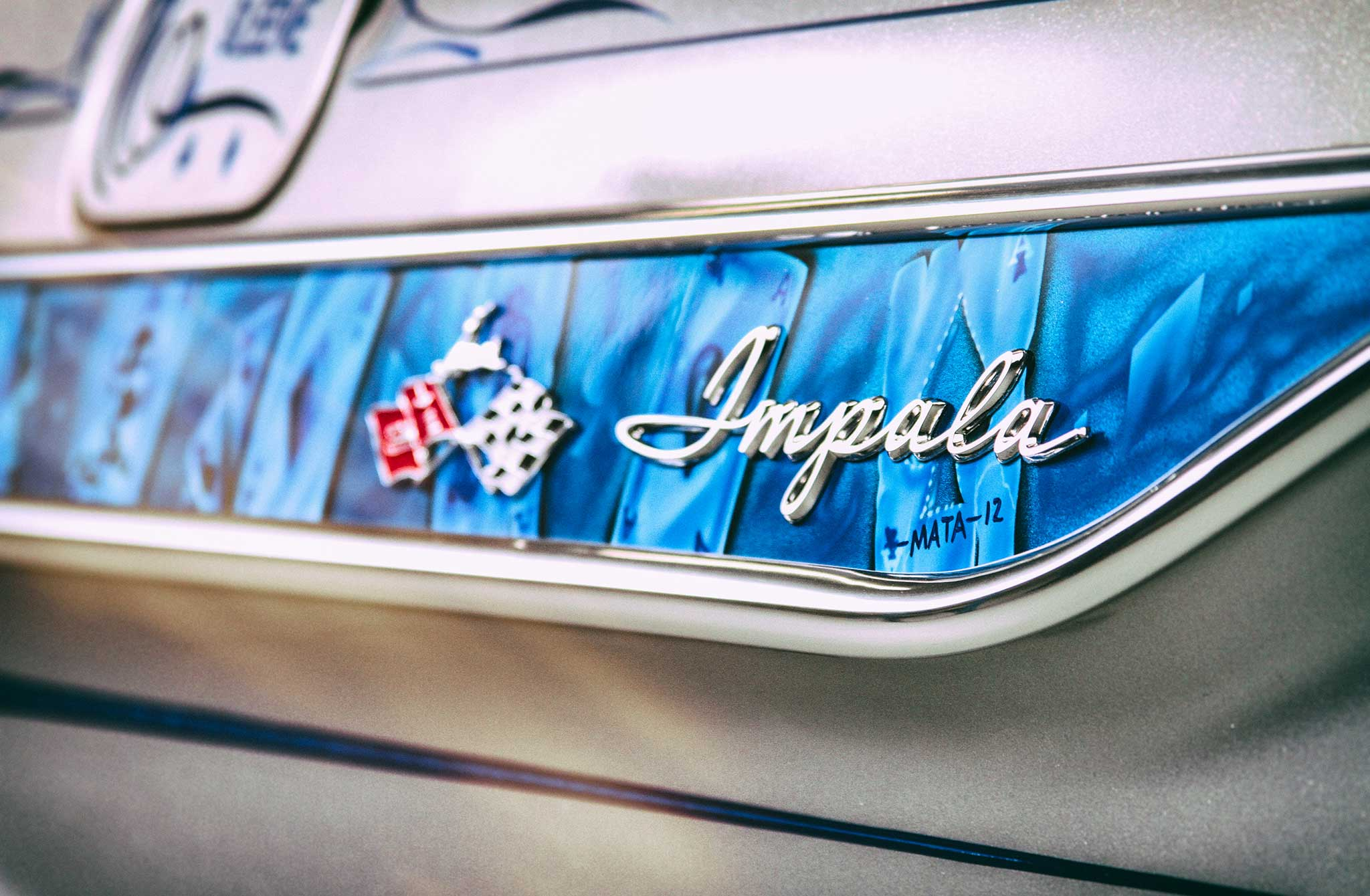 1961 chevrolet impala convertible side quarter panel badge 009