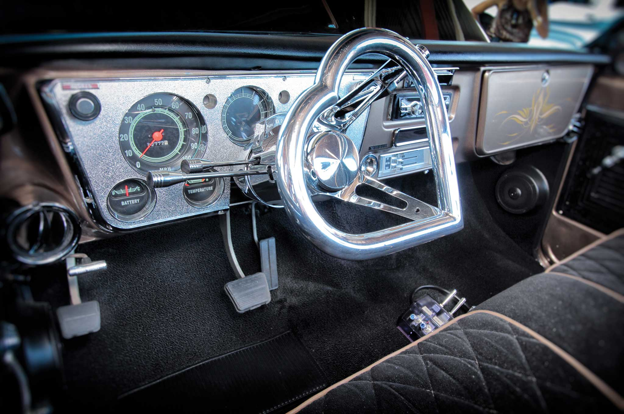 1971 chevrolet c10 custom heart shaped steering wheel 007