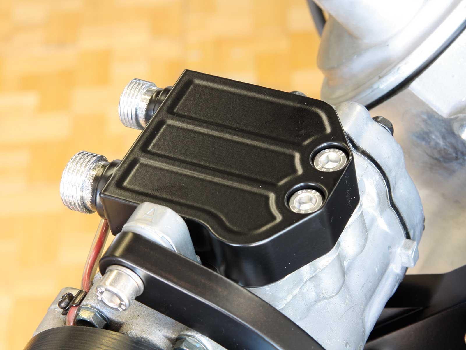 eddie motorsport s drive pulley system compressor manifold 022