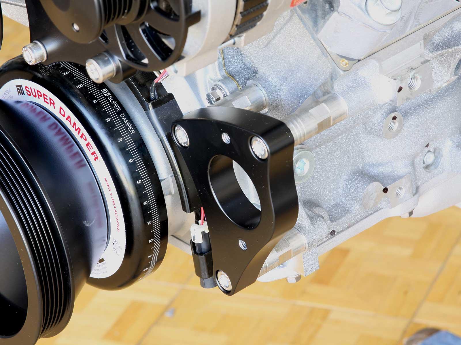 eddie motorsport s drive pulley system power steering bracket 018