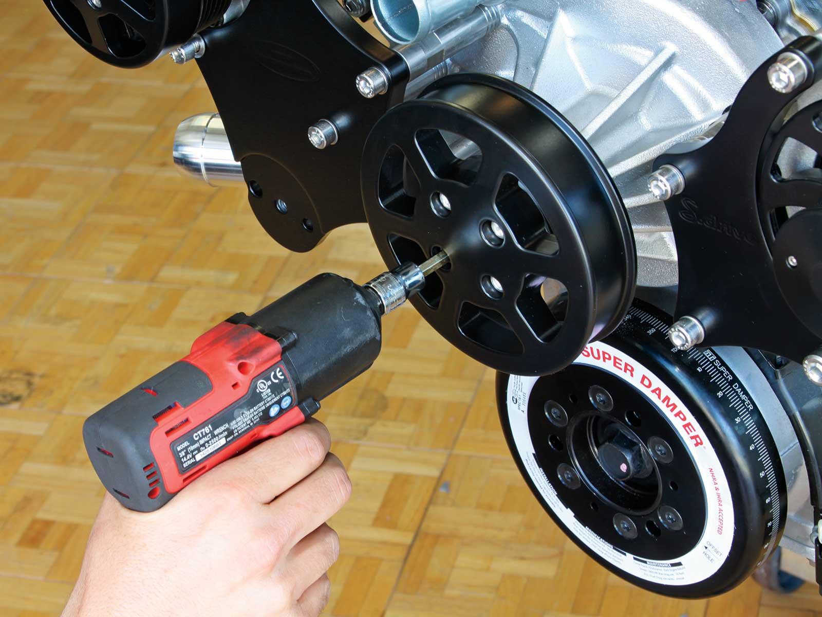 eddie motorsport s drive pulley system water pump pulley 015