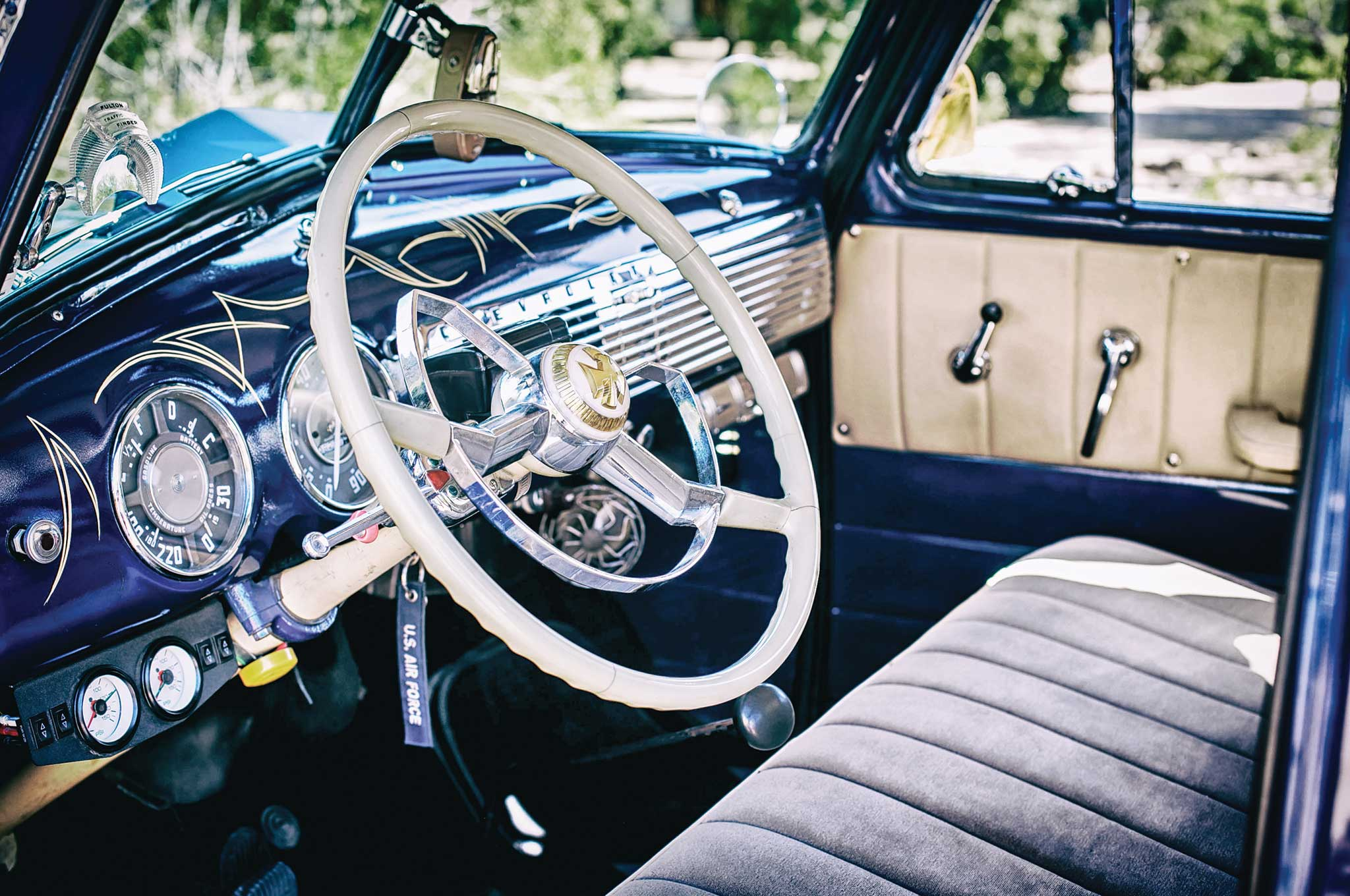 1953 chevrolet 235 steering wheel 003