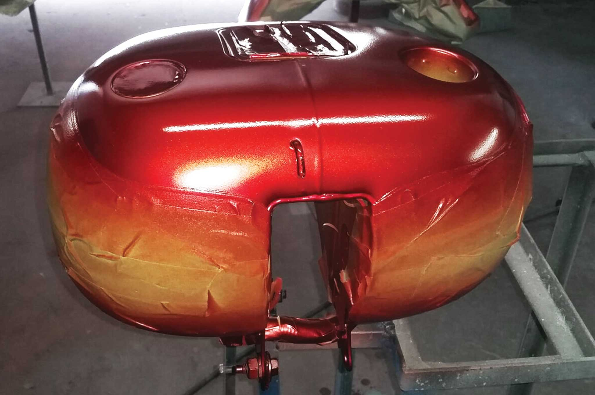 how to paint a two stage custom paint job candy pearls