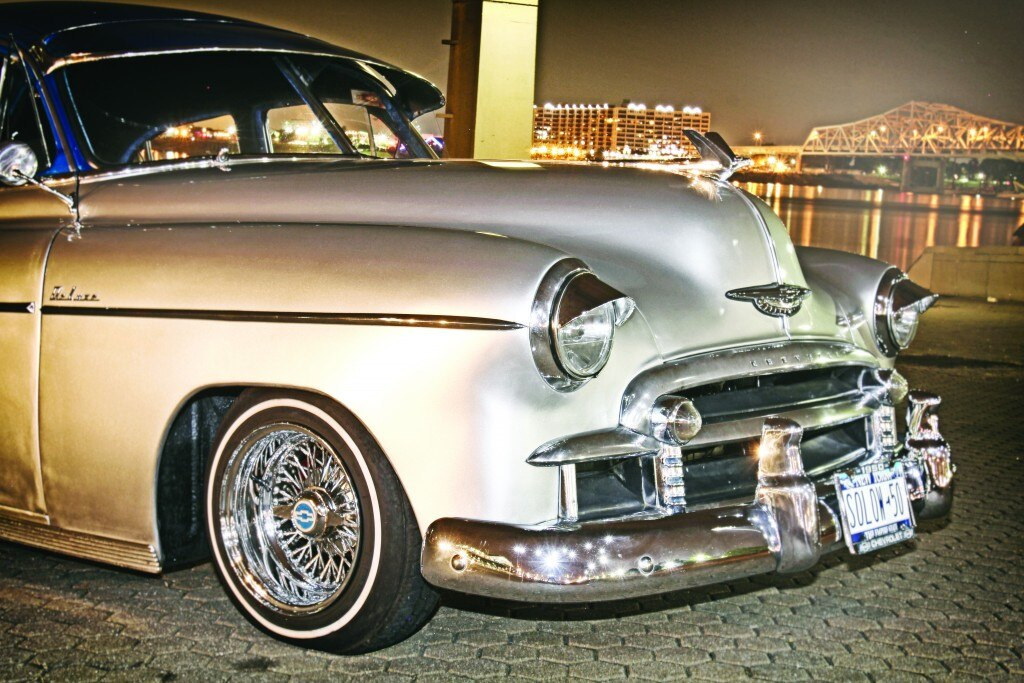 1950 chevrolet styleline front bumper005