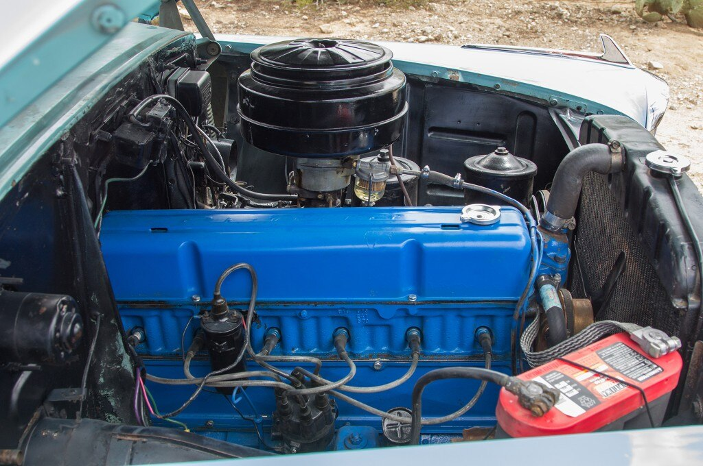 1954 chevrolet 235 convertible engine side view