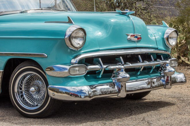 1954 chevrolet 235 convertible grille close up