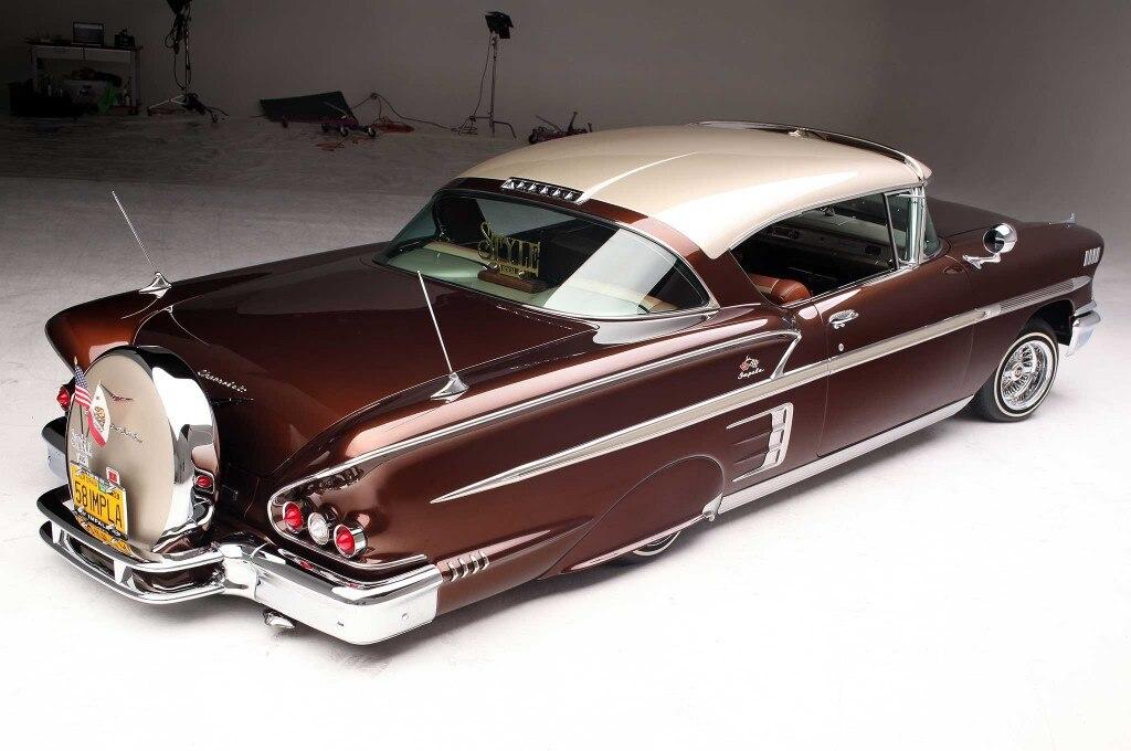 1958 chevrolet impala passenger side rear quarter view 018