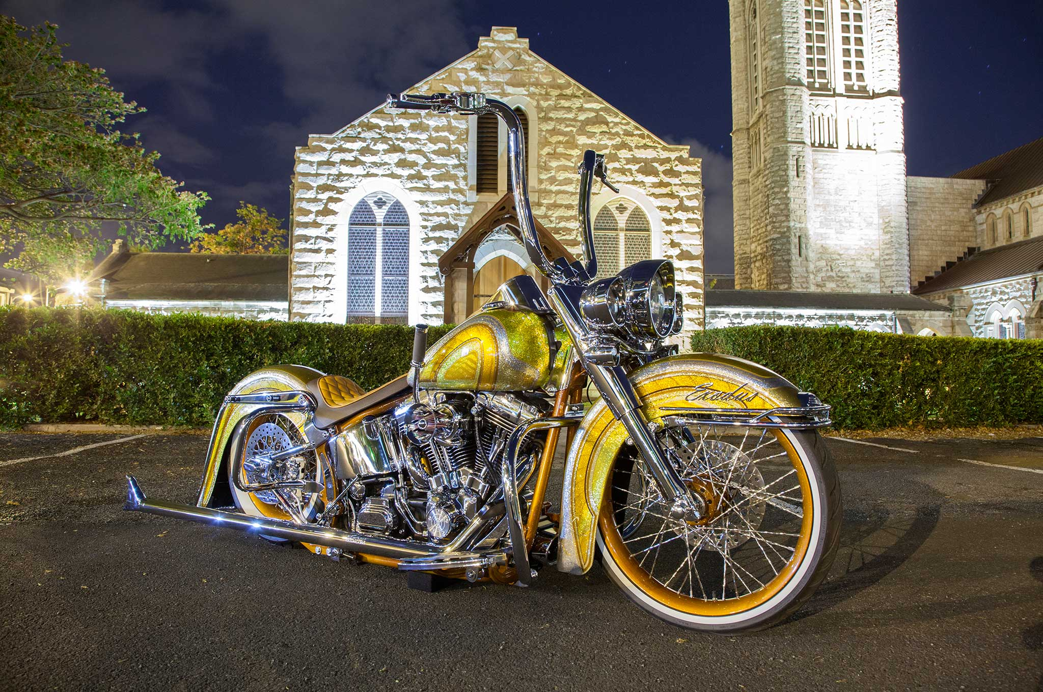 Harley Davidson Softail Deluxe Side View