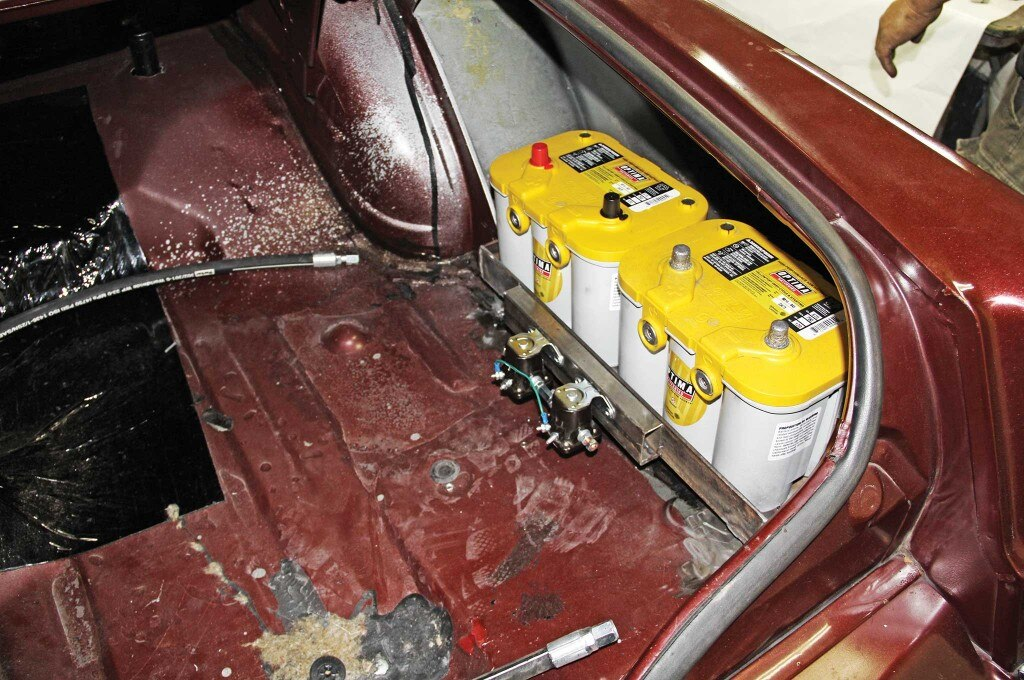 79 lincoln continental mark v hydraulics install optima yellow top batteries 018