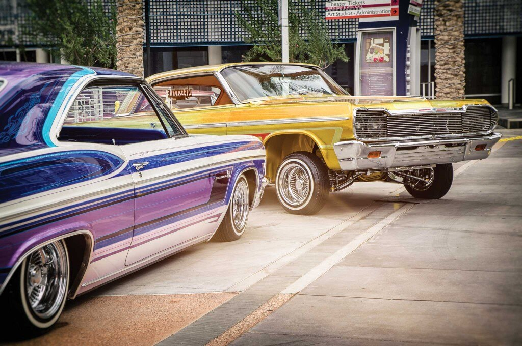 Classic lowrider paintjobs were also exhibited