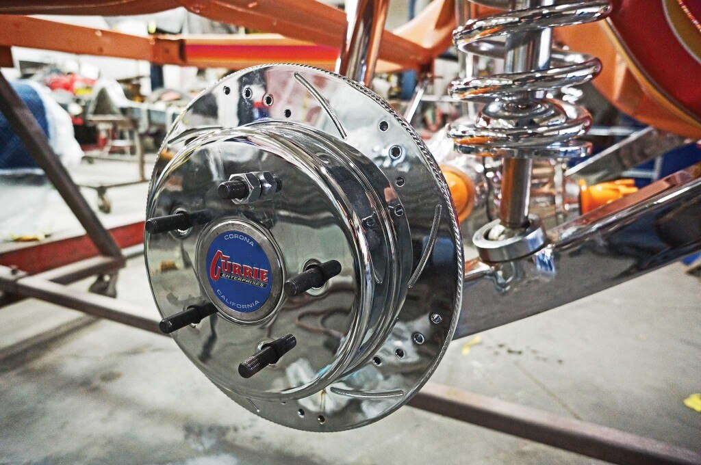 currie enterprises rearend disc brake install 017