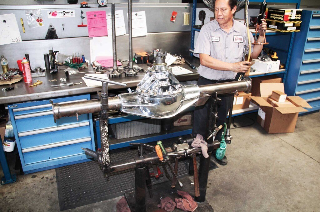 """Assembly of the aluminum """"factory polished"""" 9-inch housing."""
