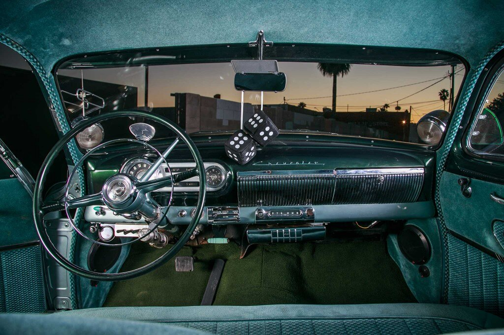 1953 chevy 210 mint green interior 026
