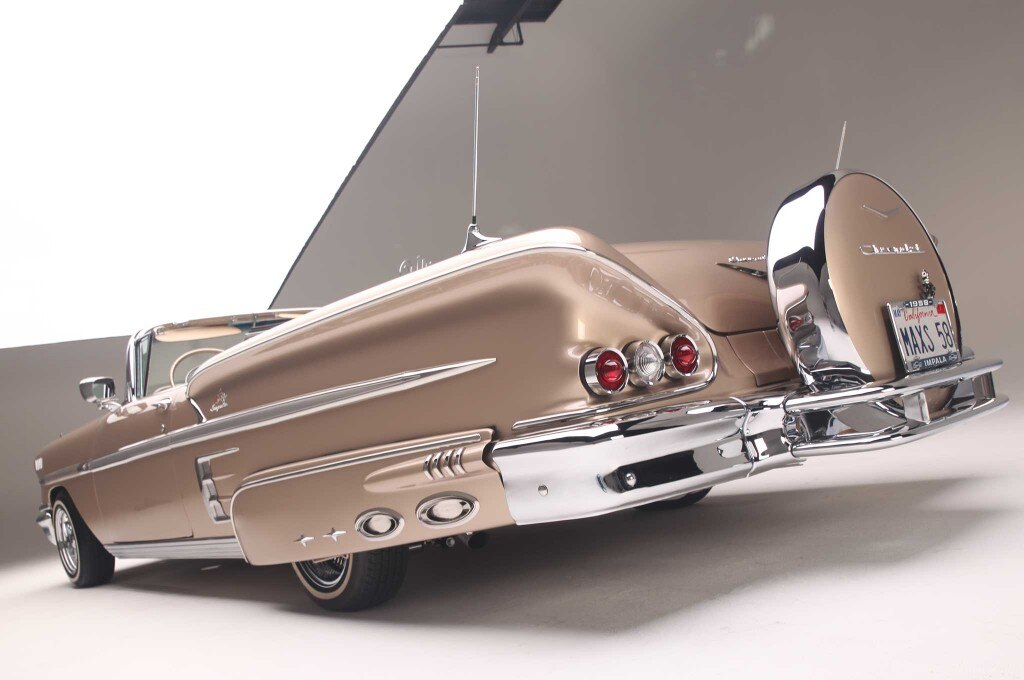 1958 chevrolet impala convertible lower driver side rear end