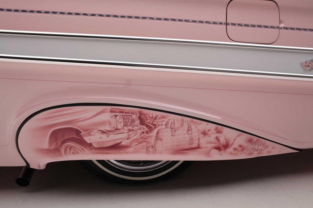 1961 chevrolet impala side skirt mural