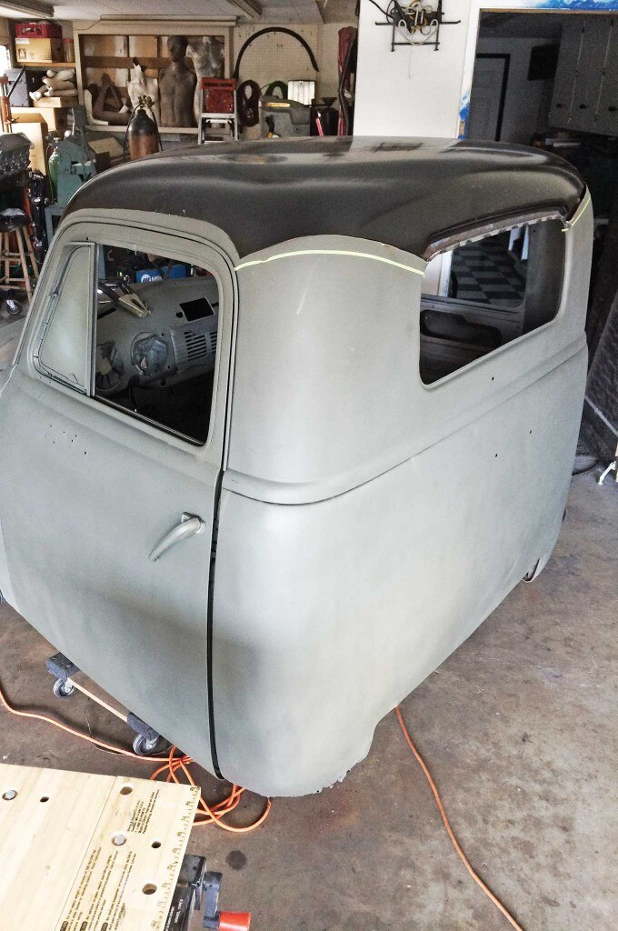 chevy truck 5 window conversion broothers roof top panel 005