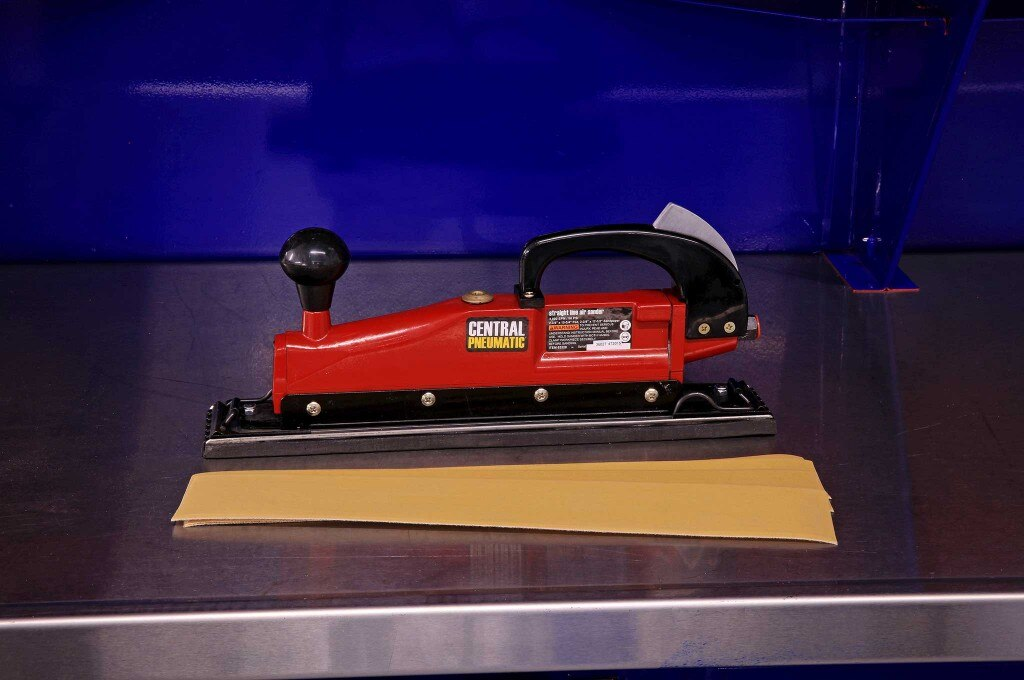 harbor freight body shop tools central pneumatic straight line air sander