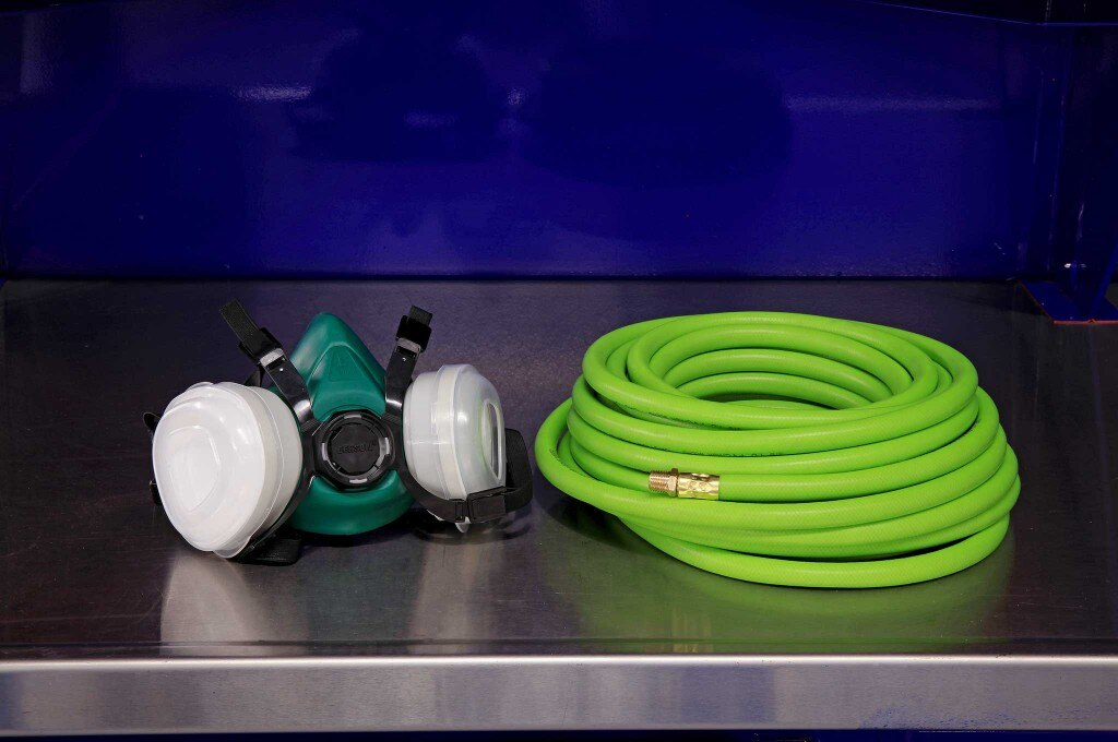 harbor freight body shop tools gerson dual cartridge respirator 50ft rubber air hose