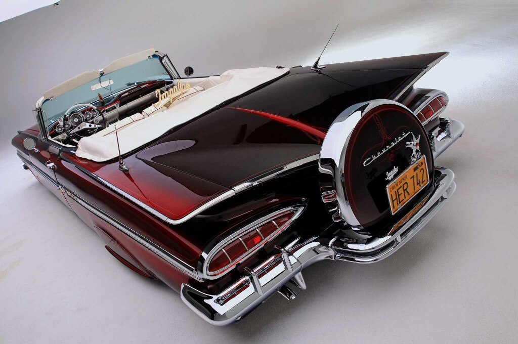 1959 chevrolet impala convertible cat eyes booty kit