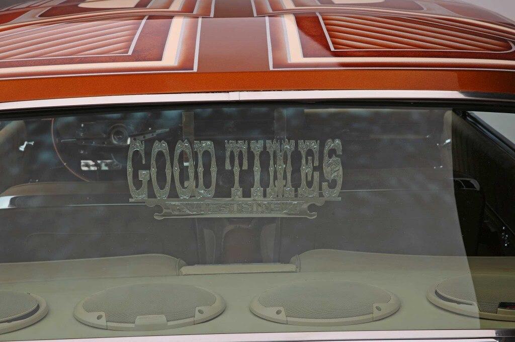 1962 chevrolet impala goodtimes car club plaque