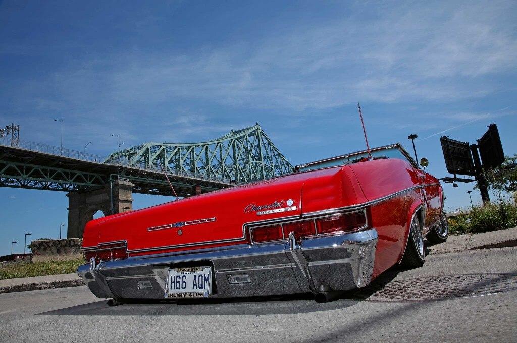 1966 chevrolet impala slammed rear