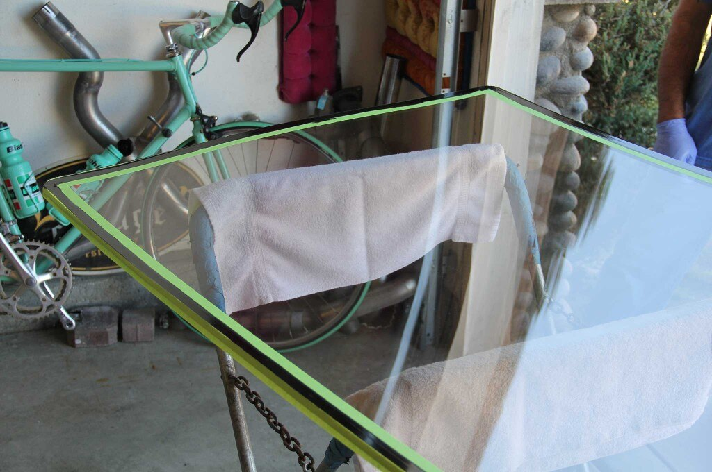 acrylic glass roof installation masking tape guide 005