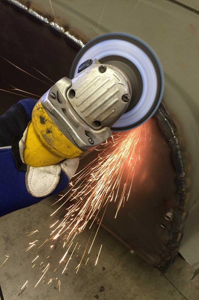 diy firewall install weld grinding 010