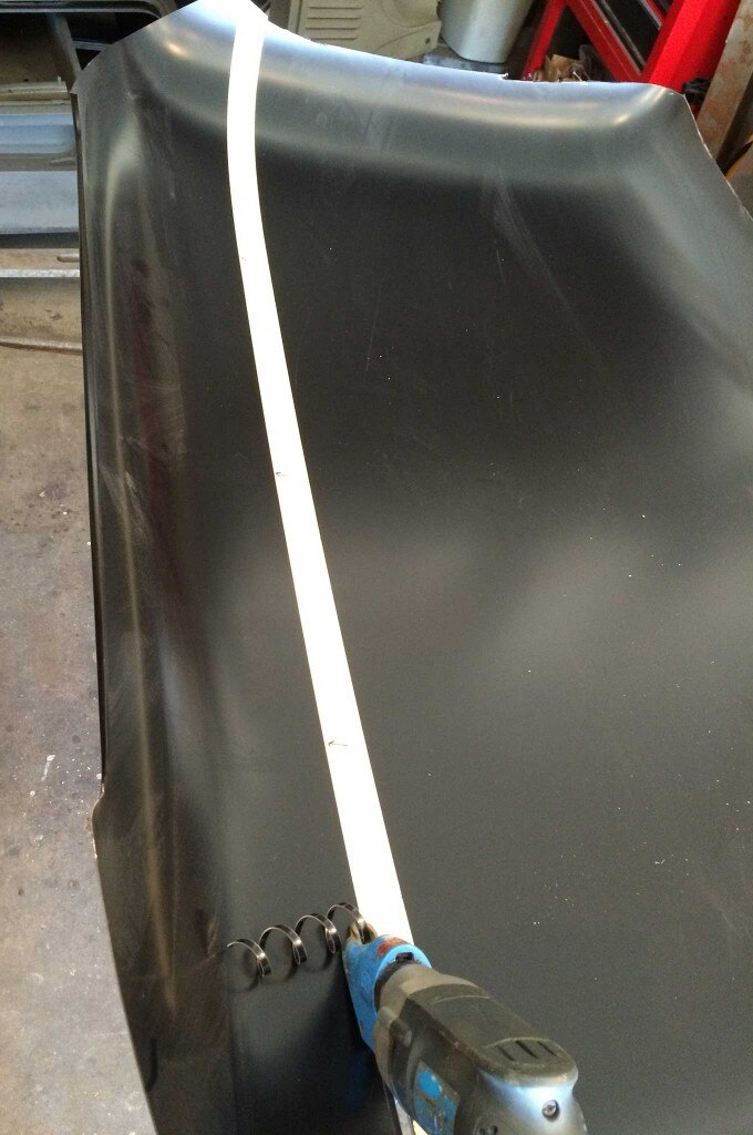 diy metal headliner roof panel skin measurement 002