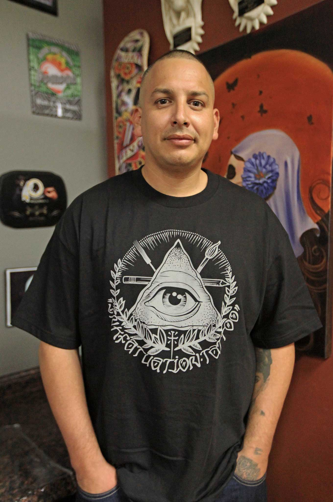 Gilbert silas a tattoo artist from oxnard for Inkfatuation tattoo shop bakersfield