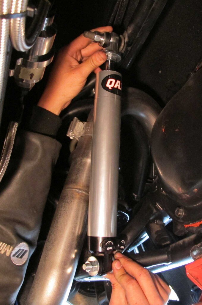 qa1 double adjustable shocks install rear test fitting 005