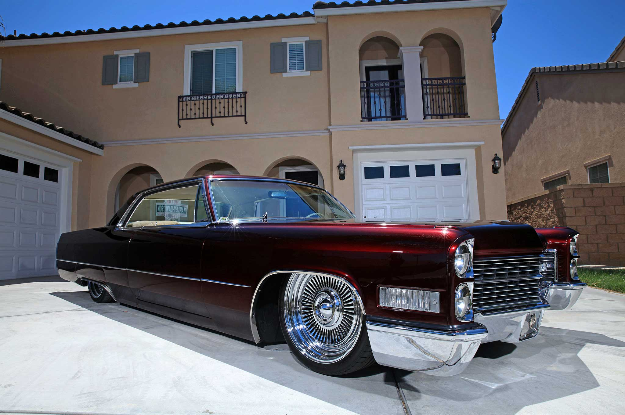 Riding a Classic Cadillac Coupe to Spend Time with His Kids