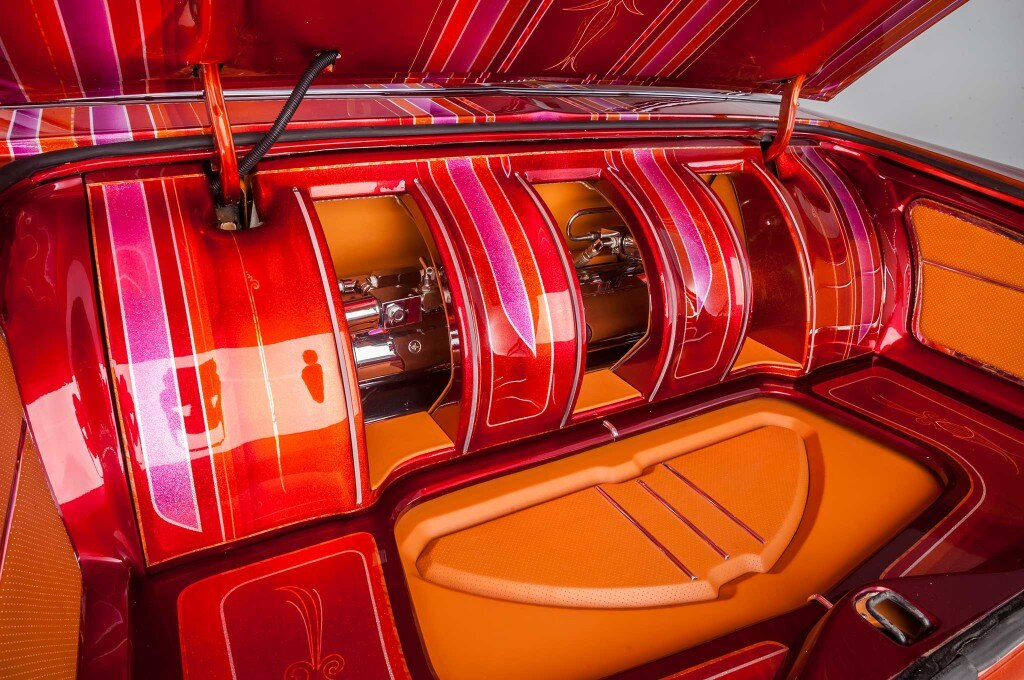 1976 ford ltd painted custom trunk