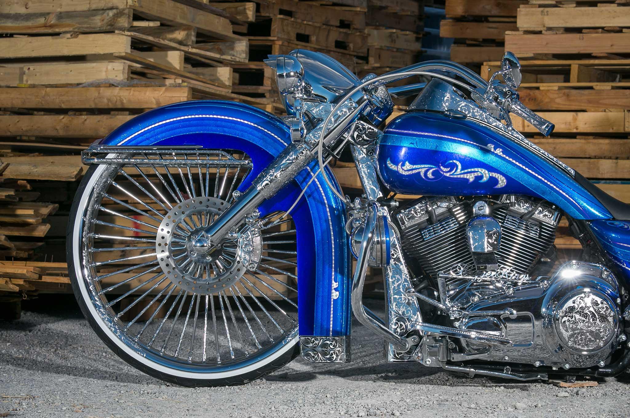 30 Inch Motorcycle Wheels : Harley davidson road king show winner