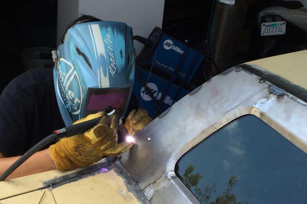 cadillac fleetwood brougham metal fab upgrade tig welding